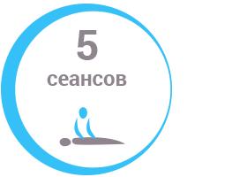 5 сеансов массажа